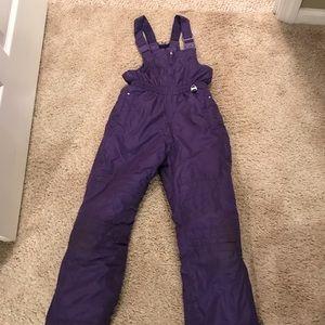 Other - Girls size 6X purple snow bib